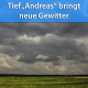 Gewitter durch Tief Andreas am 15. August 2019