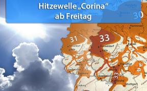 "Hitzewelle ""Corina"" Ende August 2019"