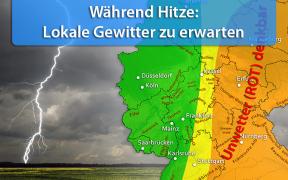 Gewitter während Hitzewelle Ende August 2019