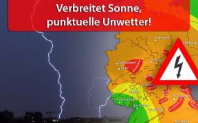 Punktuelle Gewitter am 25. und 26. August 2019