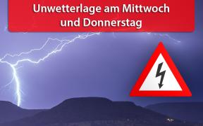 Unwetterlage am 28. und 29. August 2019