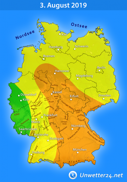 Gewittertief Wolfgang am 3. August 2019