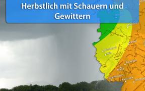 Gewitter durch Tief Götz Anfang September 2019