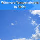 Wärmere Temperaturen Ende September 2019
