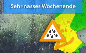 Dauerregen Tief Zed vom 1. bis 3. November 2019