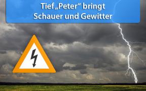 Tief Peter bringt am 9. Oktober 2019 Schauer und Gewitter