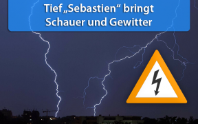 Gewitter durch Tief Sebastien 15. Oktober 2019
