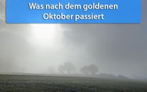 Wettertrend Mitte und Ende Oktober 2019
