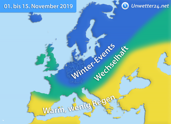 Klimatrend 1. bis 15. November 2019