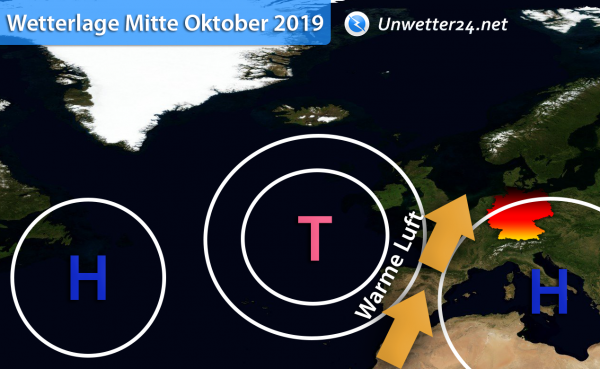 Wetterlage Mitte Oktober 2019