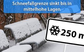 Schneefallgrenze Anfang und Mitte November 2019