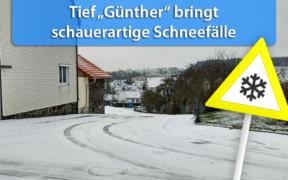 Tief Günther bringt am 15. und 16. November 2019 Schnee