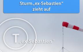 Sturmtief ex-Sebastien am 17. und 28. November 2019