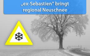 Schneefall Tief ex-Sebastien 29. bis 30. November 2019