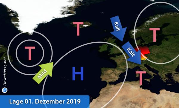 Kaltluft Anfang Dezember 2019
