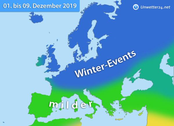 Klimatrend 1. bis 10. Dezember 2019