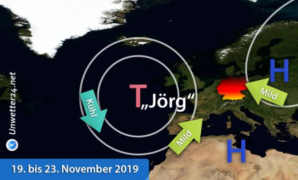 Mildere Luft 19. bis 23. November 2019