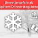 Sturmlage mit Regen und Schnee am 12. und 13. Dezember 2019