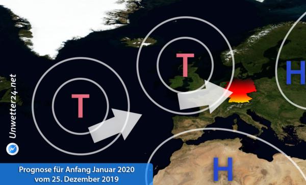Prognose für Anfang Januar 2020 vom 25. Dezember 2019