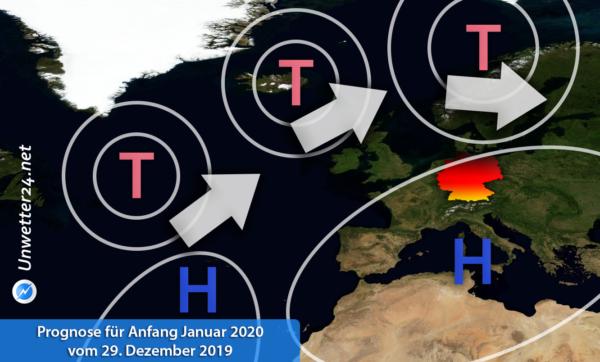 Prognose für Anfang Januar 2020 vom 29. Dezember 2019