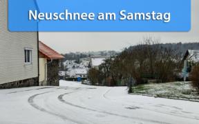 Schnee am 4. Januar 2020