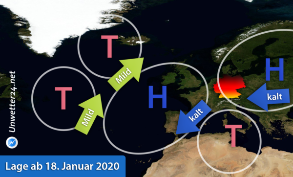 Kaltluft Ende Januar 2020