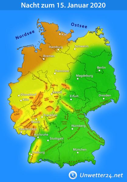 Sturm durch Orkantief Gerlinde am 14. und 15. Januar 2020