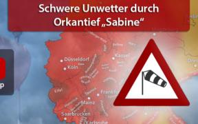 """Orkantief """"Sabine"""" vom 9. bis 11. Februar 2020"""