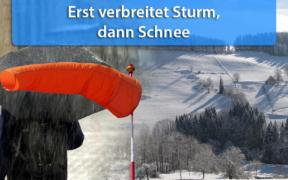 Mitte Februar 2020 Sturm und Schnee