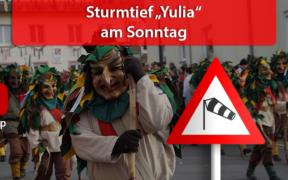 "Sturmtief ""Yulia"" am Fastnachtssonntag"