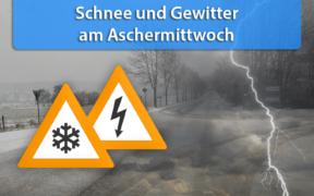 Schnee und Schauer/Gewitter Aschermittwoch 2020