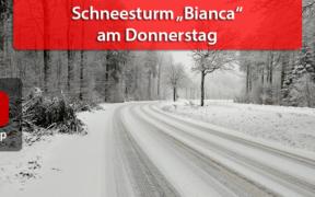 """Schneesturm """"Bianca"""" Ende Februar 2020"""