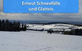 Schnee und Glatteis Anfang März 2020