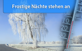 Frost Nacht zum 23. März 2020