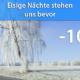 Frost Nacht zum 30. März 2020