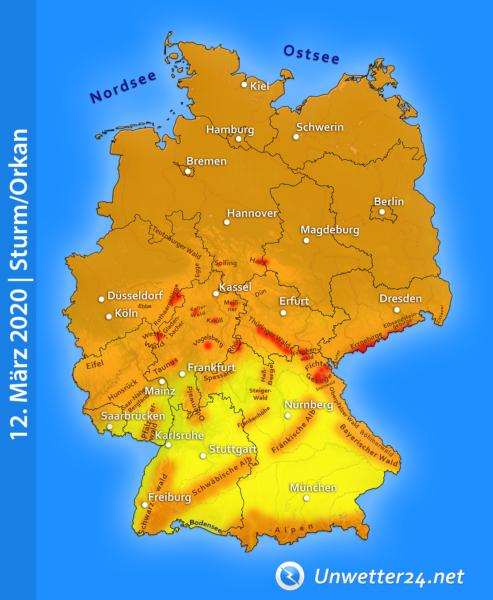 """Sturmtief """"Hanna"""" am 12. März 2020"""