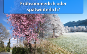 Wettertrend Mitte April 2020