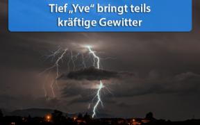 "Tief ""Yve"" bringt Gewitter am 28. April 2020"