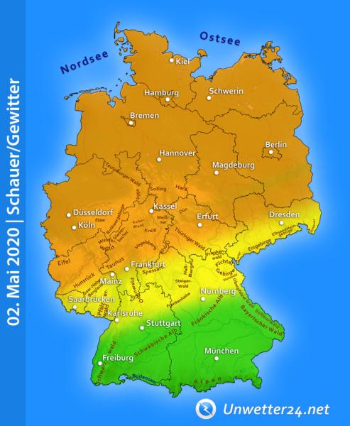 Gewitter am 02. Mai 2020