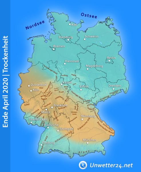 Trockenheit Ende April 2020