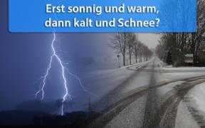 Gewitter, Starkregen und Schnee im Mai 2020