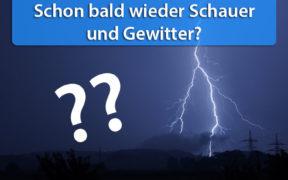 Schauer und Gewitter Ende Mai 2020