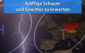 Gewittertief Europa Anfang Juni 2020