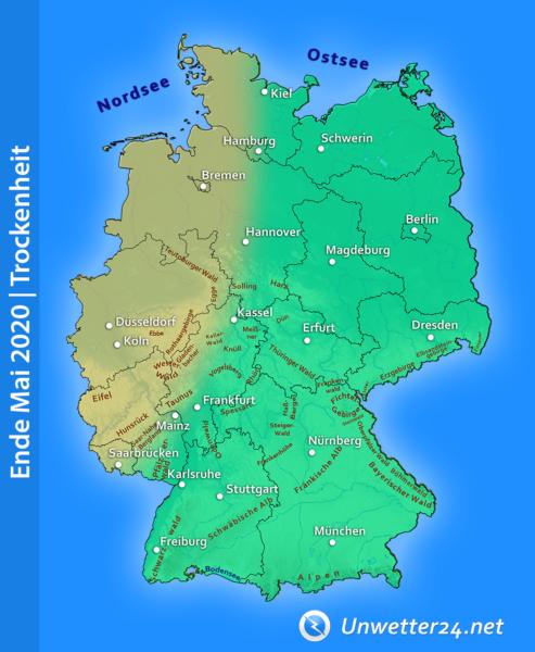 Trockenheit Ende Mai 2020