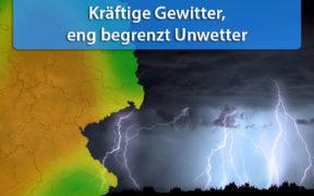 """Gewitter Tief """"Juliane"""" am 3. und 4. Juni 2020"""