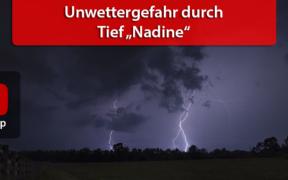 Unwetter Tief Nadine am 17. Juni 2020