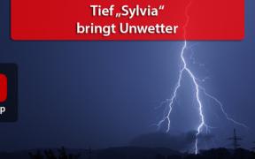 """Tief """"Sylvia"""" bringt Unwetter am 26. und 27. Juni 2020"""