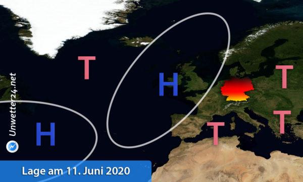 Gewittertiefs Europa 11. Juni 2020