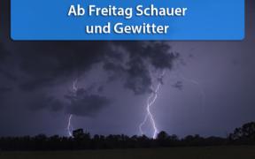 Schauer und Gewitter Ende Juli 2020