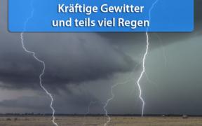 Starkregen und Gewitter am 26. Juli 2020